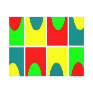 Colorfull Circles and rectangles design Canvas Print
