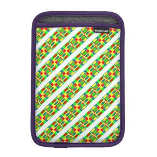Colorfull Circles and rectangles design iPad Mini Sleeve