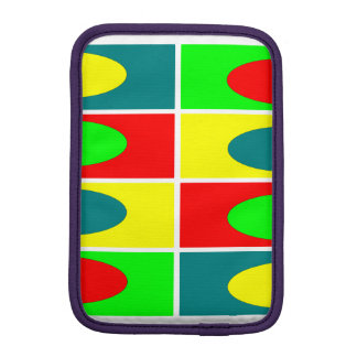 Colorfull Circles and rectangles design iPad Mini Sleeves