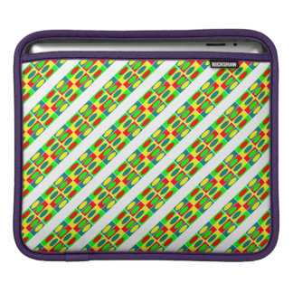 Colorfull Circles and rectangles design Sleeves For iPads