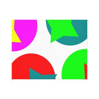Colorfull Circles design Canvas Print