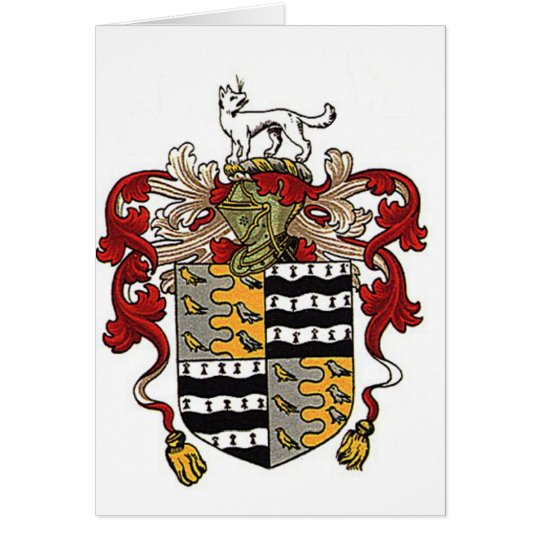 Colorfull coat of arms crest card