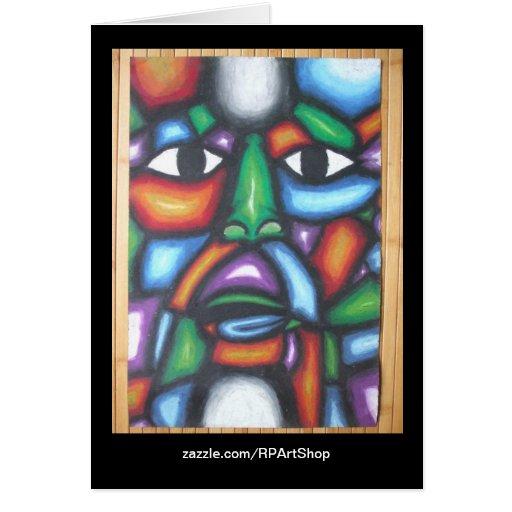 Colorfull Face Art Card