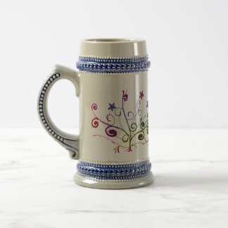Colorfull Floral Beer Stein