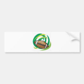 Colorfull Football Bumper Sticker