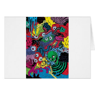 colorfull gouls card