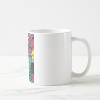 colorfull gouls coffee mug