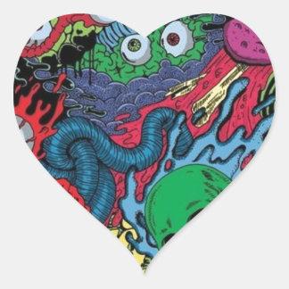 colorfull gouls heart sticker