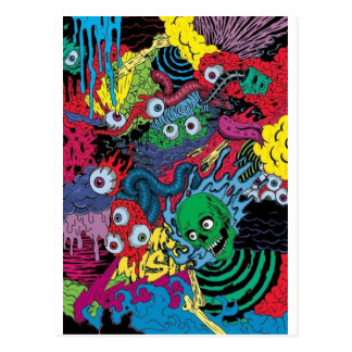 colorfull gouls postcard