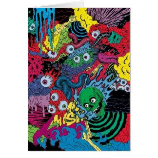 colorfull gouls tattoo design card