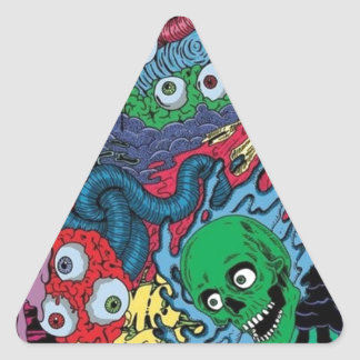 colorfull gouls triangle sticker