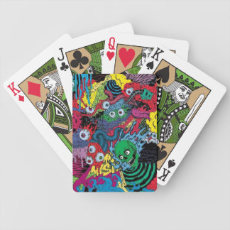 colorfull gouls trippy goth bicycle playing cards