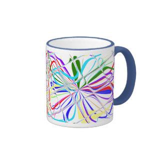 ¡Colorfull, línea Bludge, tejó el vidrio taza de 1