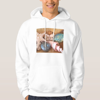 colorfull multiple sea shell arrangement hoodie