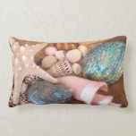 colorfull multiple sea shell arrangement throw pillows