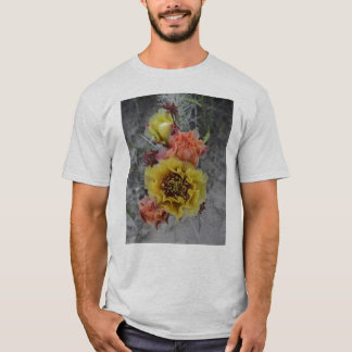 colorfull plains prickle pear flowers in pink and T-Shirt