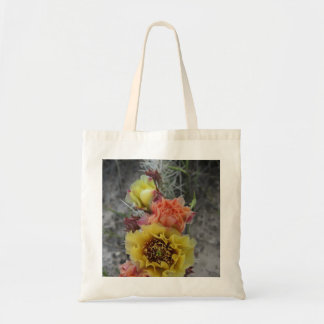 colorfull plains prickle pear flowers in pink and tote bag
