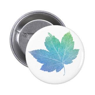 colorfull skeleton Leaf blue Button