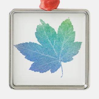 colorfull skeleton Leaf blue Metal Ornament