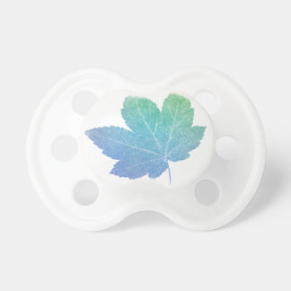 colorfull skeleton Leaf blue Pacifier