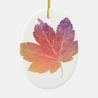 colorfull skeleton Leaf talk Ceramic Ornament
