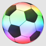 Colorfull Soccer Ball (football) Round Stickers