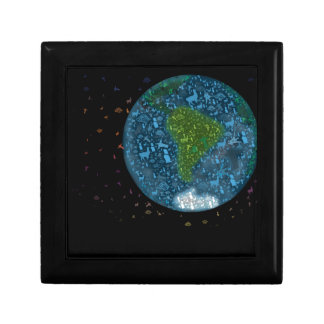 Colorfull South America Continent Gift Box