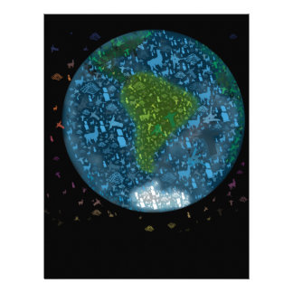 Colorfull South America Continent Letterhead