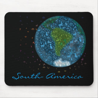 Colorfull South America Continent Mouse Pad