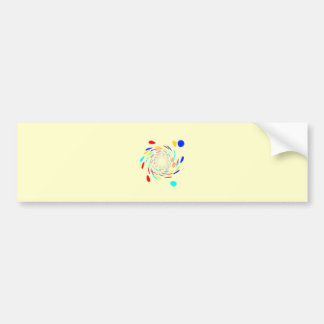 Colorfull Swirl Pattern Bumper Stickers