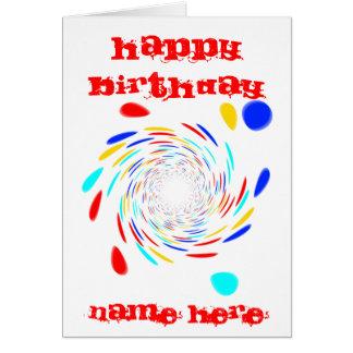Colorfull Swirl Pattern Card