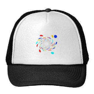Colorfull Swirl Pattern Mesh Hats