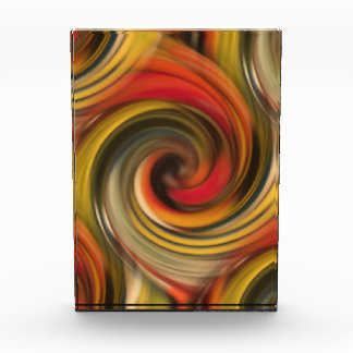 Colorfull swirl pattern with black hole acrylic award