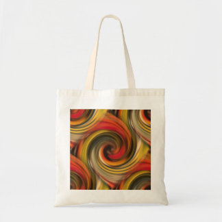 Colorfull swirl pattern with black hole tote bag