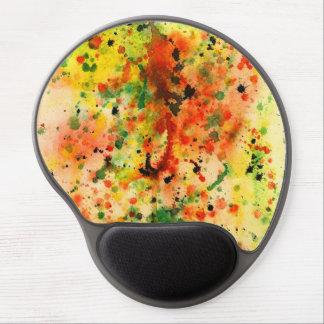 Colorfull watercolor splash gel mousepad