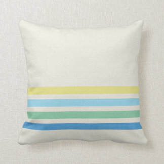 Colorfully Striped Throw Pillow