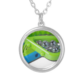 ColorfulTambourines061615.png Round Pendant Necklace