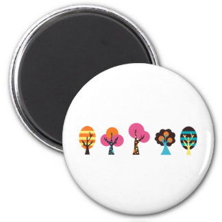 ColorfulTrees2 2 Inch Round Magnet