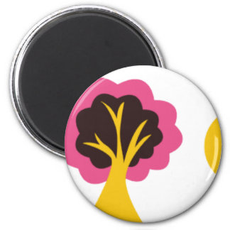 ColorfulTrees3 2 Inch Round Magnet