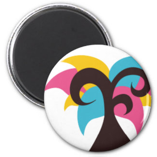 ColorfulTrees4 2 Inch Round Magnet