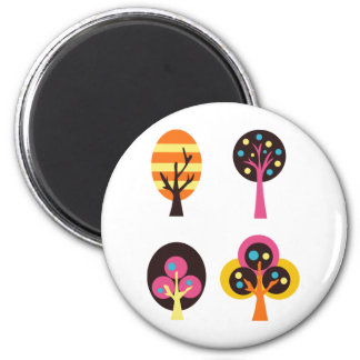 ColorfulTrees5 2 Inch Round Magnet