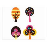 ColorfulTrees5 Tarjeta Postal