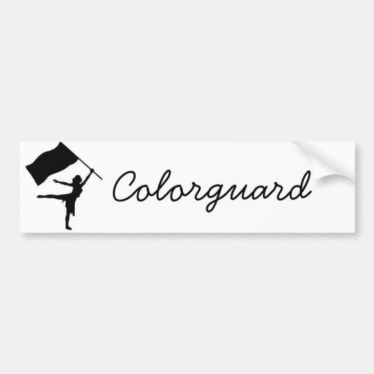 Colorguard Bumper Sticker | Zazzle.com