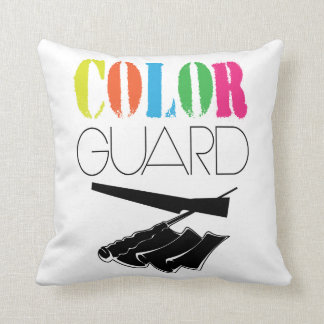 Colorguard - Colorful Throw Pillow