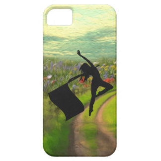 Colorguard Dancer Leaping with Flag iPhone SE/5/5s Case