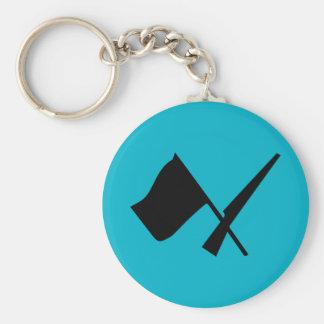 Colorguard flag & rifle Button Keychain