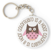 Colorguard is A Hoot Owl Keychain