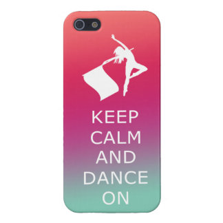 """Colorguard """"Keep Calm and Dance On"""" iPhone SE/5/5s Cover"""