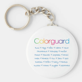 Colorguard Basic Round Button Keychain