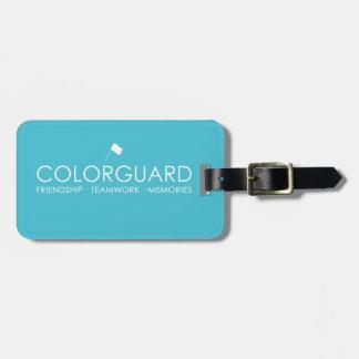 Colorguard: Memorias del trabajo en equipo de la a Etiqueta Para Equipaje